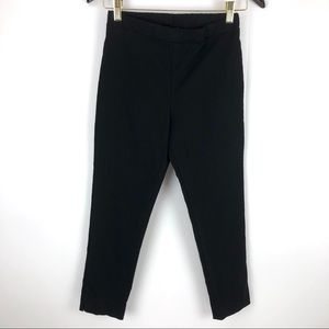 Clara Sun Woo Stretch Pull On Casual Black Pant XS